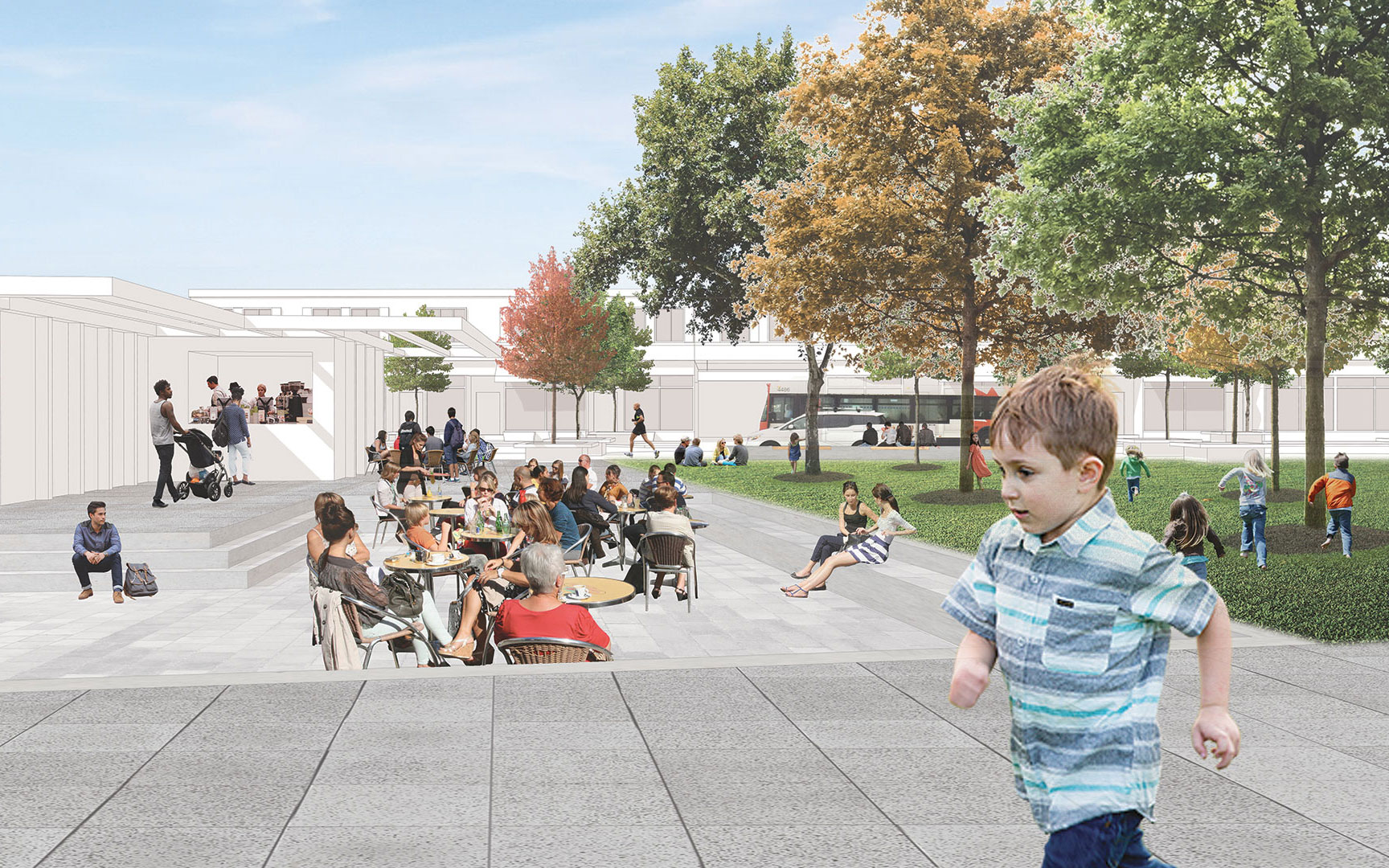 Proposed park rendering of City Park Master Plan.
