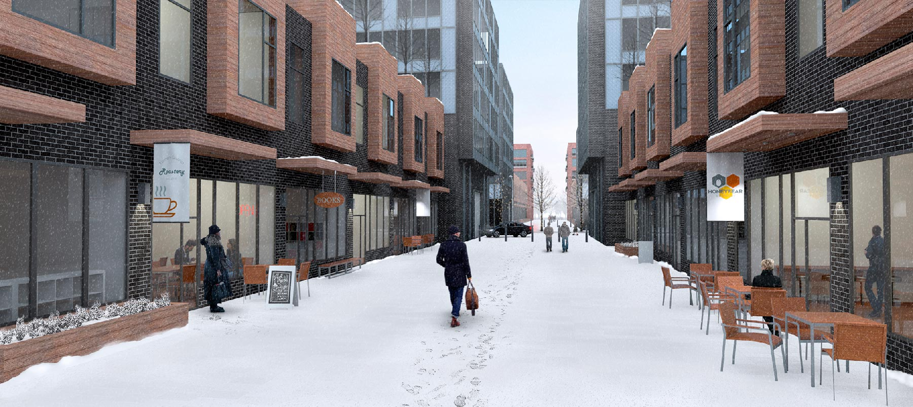 Proposed rendering of Townhouse Mews.