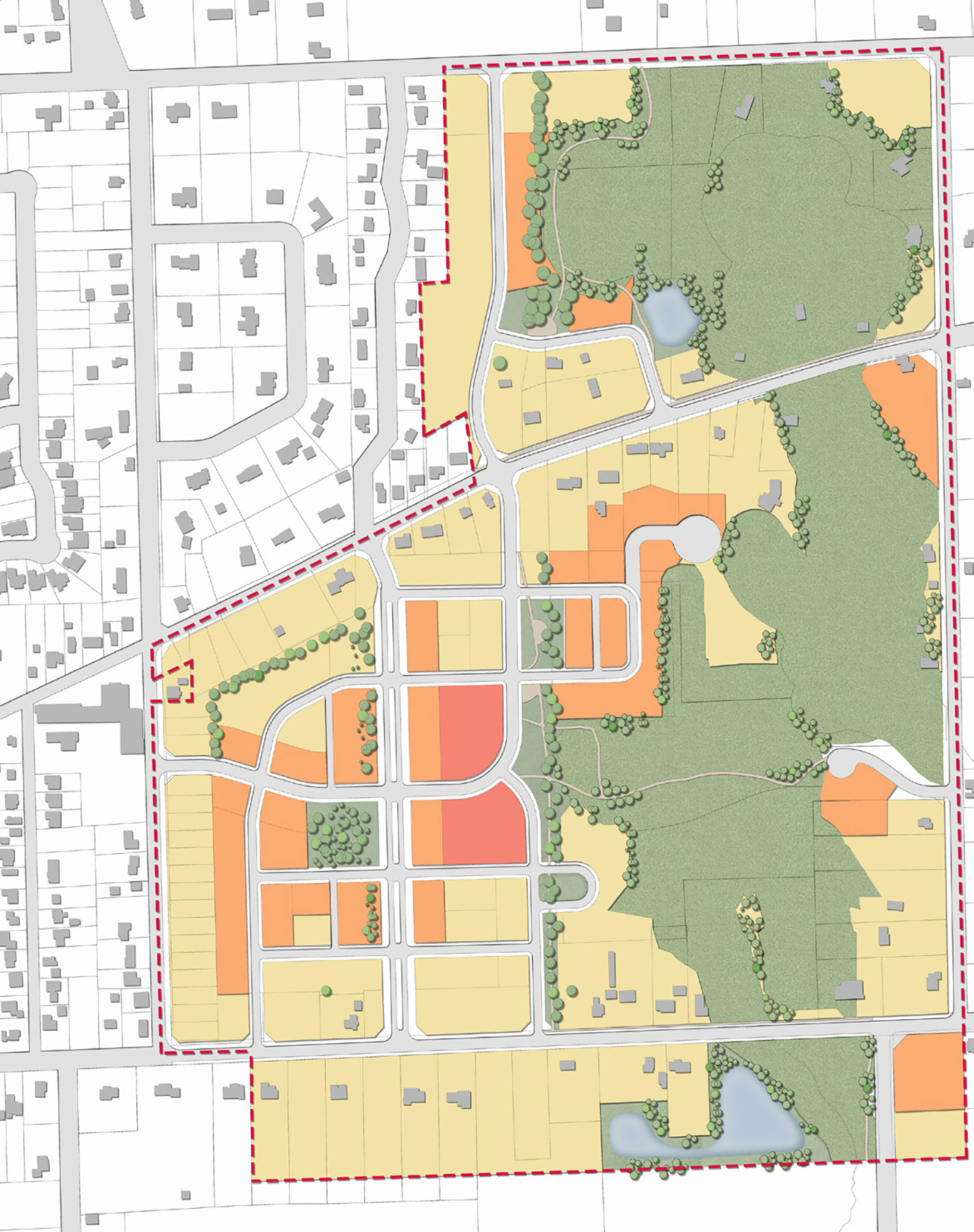 Proposed land use plan of the East Fenwick Secondary Plan area.